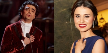 Rolando Villazon and Valentina Nafornita performing during Central Europe tour.